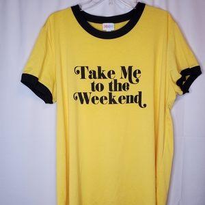 LuLaRoe 2XL Take Me to the Weekend Liv